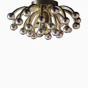 Lampada da parete o da soffitto Pistillino dorata di Studio Tetrarch per Valenti Luce, anni '70