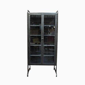 Vintage Apothekenschrank aus poliertem Metall & Glas, 1950er