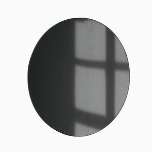 Espejo Orbis extra grande redondo teñido en negro sin marco de Alguacil & Perkoff Ltd