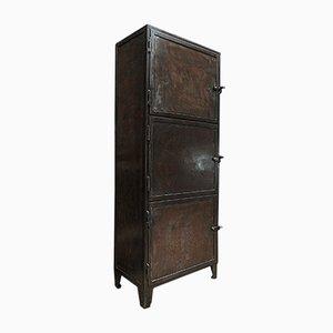Mueble industrial vintage de metal, años 50