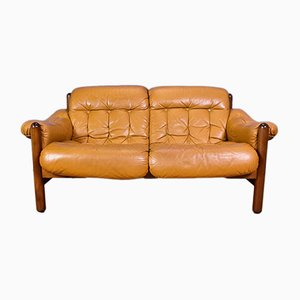 Vintage Leather 2-Seat Sofa, 1970s