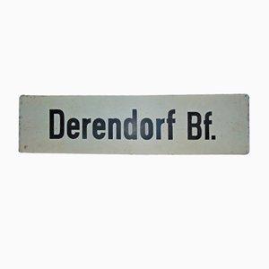 Industrielles Schild Derendorf Bf., 1950er
