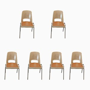 Vintage Stackable Chairs from Baumann, 1960s, Set of 6