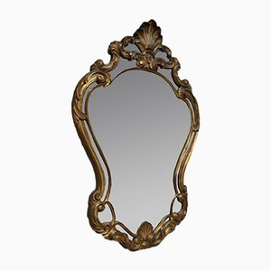 Espejo estilo Luis XV de madera dorada, años 50