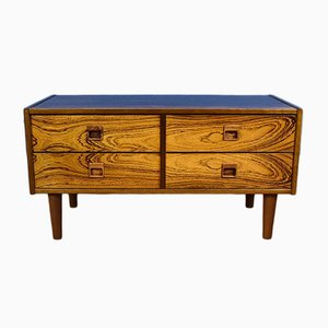 Vintage Danish Rosewood Low Sideboard with 4 Drawers, 1970s