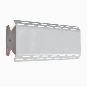 Lámpara de pared ajustable de metal lacado en blanco de Massive Lighting, años 70