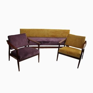 Mid-Century Living Room Set by Fredrik A. Kayser