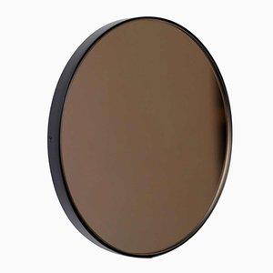 Extra großer runder Orbis Spiegel mit getöntem Glas & schwarzem Rahmen von Alguacil & Perkoff Ltd