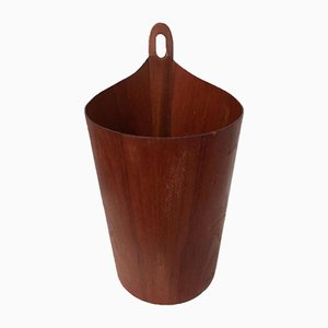 Teak Waste Basket by Einar Barnes for P.S. Heggen, 1960s