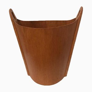 Vintage Teak Waste Basket by Einar Barnes for P.S. Heggen, 1950s