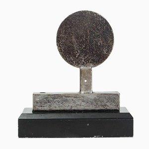 Escultura Eclipse vintage de acero soldado de Jackie Kresak
