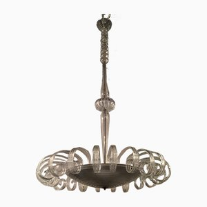 Vintage Murano Glass Chandelier from Venini, 1930s