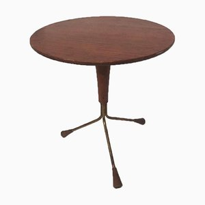 Mid-Century Teak Tripod Side Table by Albert Larsson for Alberts of Sweden, 1950s