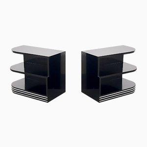 Stromlinienförmige Bauhaus Regalsysteme, 1920er, 2er Set