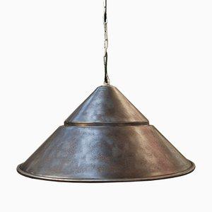 Lámpara colgante de fábrica vintage de metal, años 60