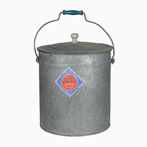 Italian Tin Bucket from Fomit, 1950s