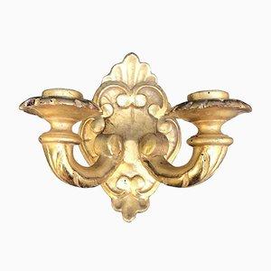 Goldene dekorative Wandleuchten, 1800er, 6er Set