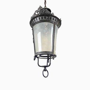 Runde antike Deckenlampe aus galvanisiertem Metall