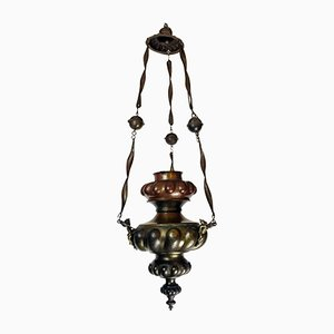 Antique Embossed Copper Pendant Lamp