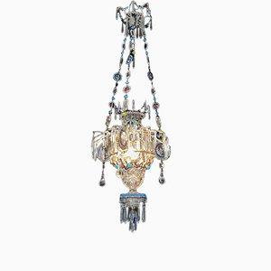 Antiker Kronleuchter aus Kristallglas