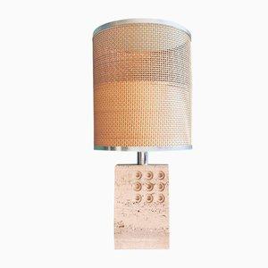 Lampada da tavolo in travertino di Reggiani per Raymor, Italia, anni '60