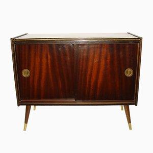 Mueble Mid-Century con gramófono, años 50
