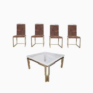 Vintage Table & 4 Chairs Set, 1970s