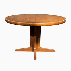 Round Teak Dining Table from Spøttrup, 1960s