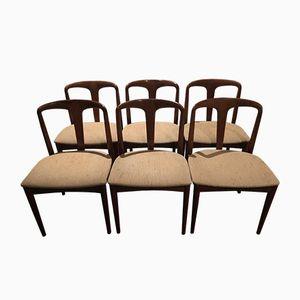 Juliane Stühle mit Gestell aus Palisander von Johannes Andersen für Uldum Mobelfabrik, 1966, 6er Set