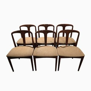 Rosewood Juliane Chairs by Johannes Andersen for Uldum Mobelfabrik, 1966, Set of 6