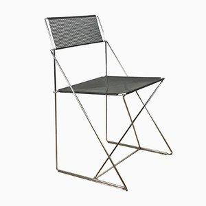 Mid-Century X Line Chair by Niels Jørgen Haugesen, 1970s