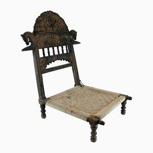 Antiker indischer Beistellstuhl