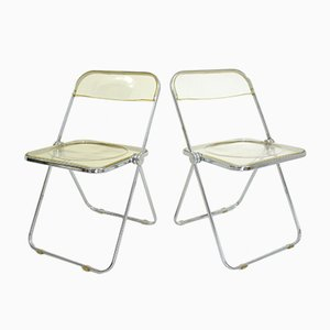 Vintage Model Plia Chairs by Giancarlo Piretti for Castelli, 1960s, Set of 2