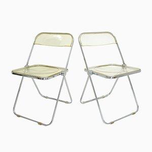 Vintage Modell Plia Stühle von Giancarlo Piretti für Castelli, 1960er, 2er Set