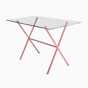 Libelle Schreibtisch mit pinkem Gestell von Dixel