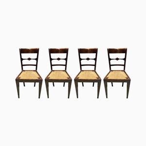 Antique Walnut Side Chairs, Set of 4