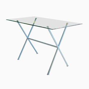 Libelle Schreibtisch mit blauem Gestell von Dixel