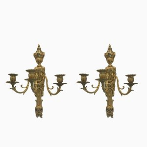 Antique Bronze Wall Lights, Set of 2