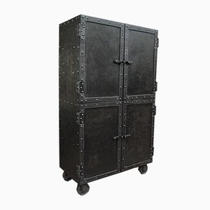 Antique Industrial Steel Wardrobe