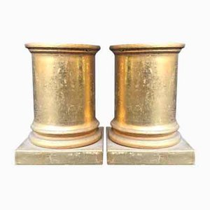 Antique Wooden Columns, Set of 2