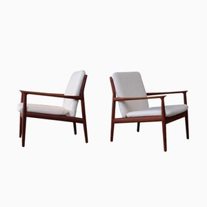 Vintage Easy Chairs by Grete Jalk, 1950s, Set of 2