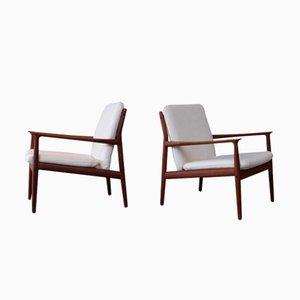 Vintage Sessel von Grete Jalk, 1950er, 2er Set