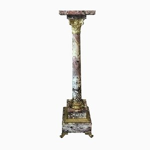 Marble & Bronze Column, 1800s