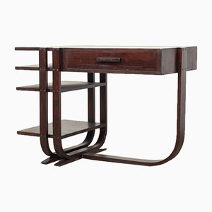 Art Deco Wood Desk by Gilbert Rohde for Heywood Wakefield, 1930s