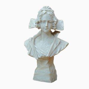 Escultura de busto italiana antigua de G. Pochini
