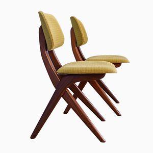 Niederländische Esszimmerstühle mit Gestell aus Teak von Louis van Teeffelen für Webe, 1960er, 2er Set