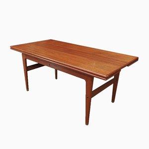 Mesa de comedor extensible de teca de Samcom, años 60