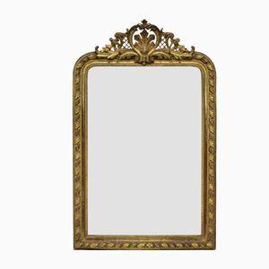 Antiker Spiegel im wasservergoldeteten Übermantel, 1860er