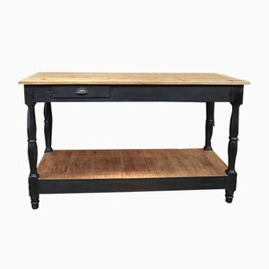 Vintage Fir Console Table with Drawer, 1930s