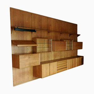 Large Mid-Century Teak Shelving System by Poul Cadovius for Cado, 1950s